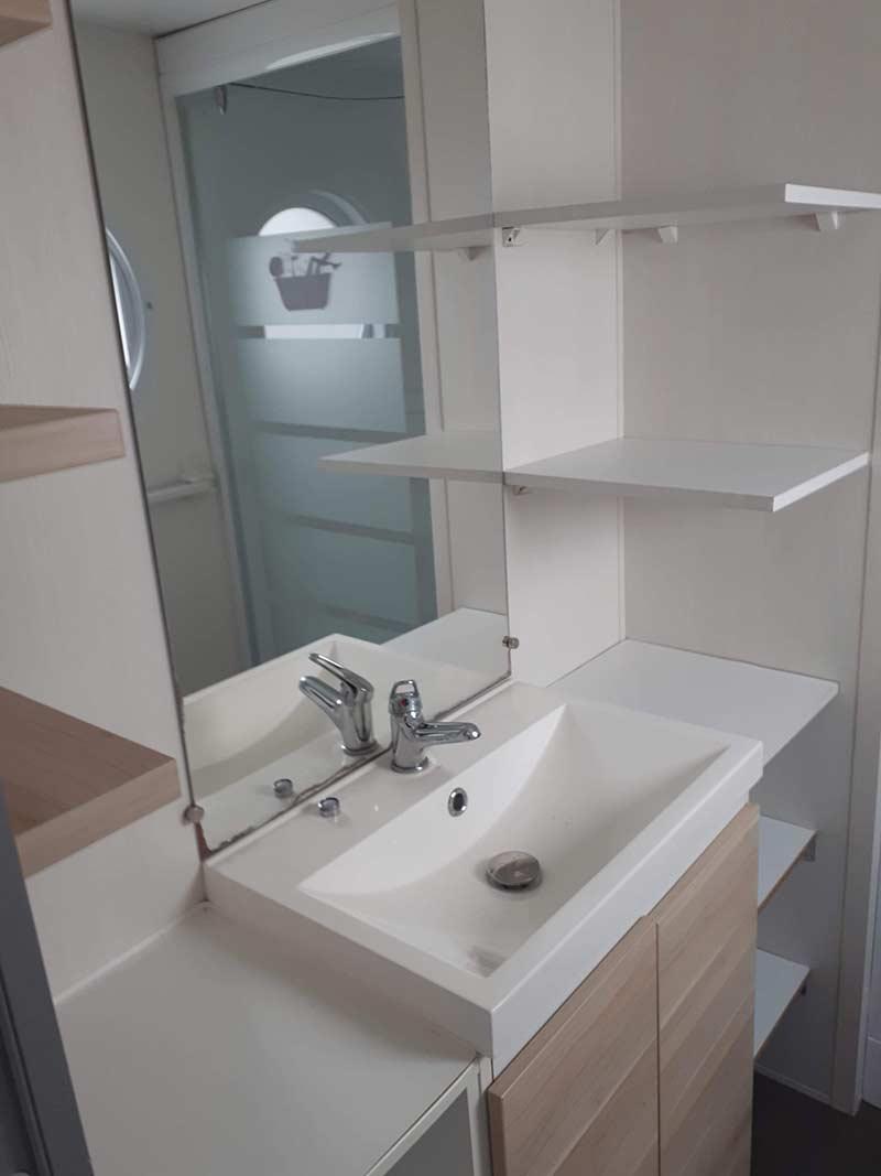 salle d'eau mobilhome