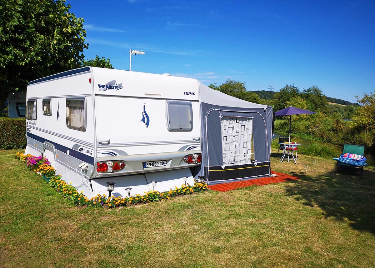 emplacement caravane camping proche Dieppe