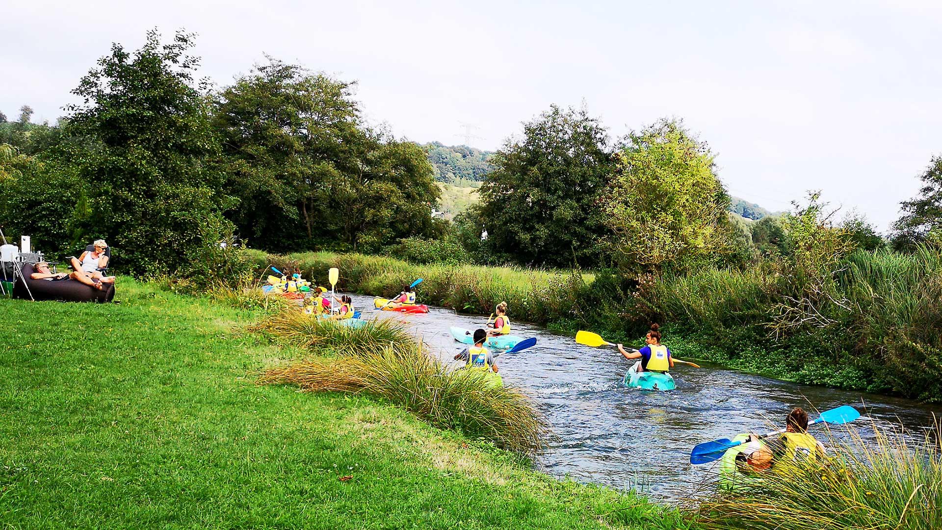 canoé sur la rivière la Varenne
